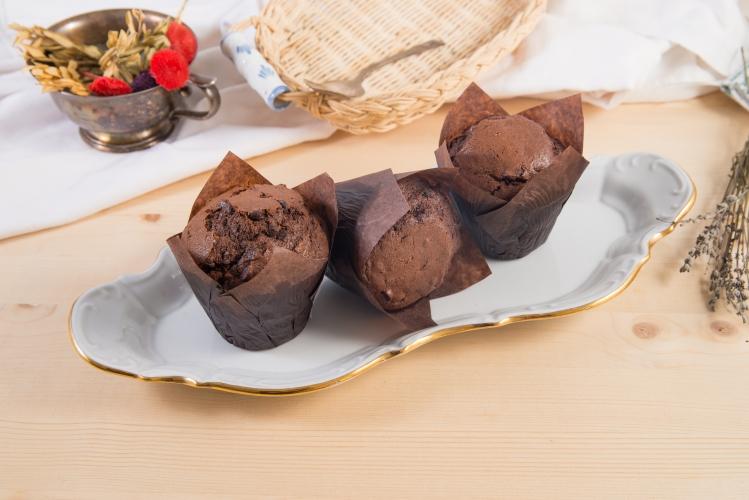 Muffin cu cacao si ciocolata